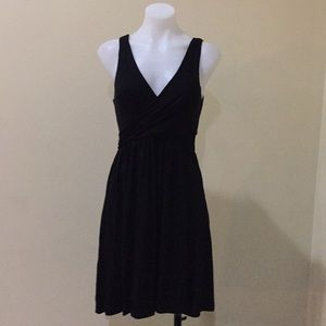 Loft black criss  cross  top dress